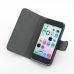 iPhone 5c Leather Flip Cover Case (Black Croc) top quality leather case by PDair