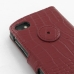 BlackBerry Q10 Leather Flip Cover Case (Red Croc) protective carrying case by PDair