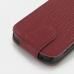BlackBerry Q10 Leather Flip Top Cover (Red Croc Pattern) protective carrying case by PDair