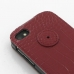 BlackBerry Q10 Leather Flip Top Cover (Red Croc Pattern) handmade leather case by PDair