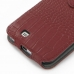 Samsung Galaxy Note 2 Leather Flip Top Cover (Red Croc Pattern) protective carrying case by PDair