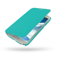 Casual Folio Cover Case for Samsung Galaxy Note 2 | Samsung Galaxy Note2 | GT-N7100 (Aqua)