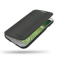 Casual Folio Cover Case for Samsung Galaxy S4 SIV LTE GT-i9500 GT-i9505 (Black)