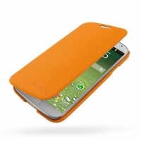 Casual Folio Cover Case for Samsung Galaxy S4 SIV LTE GT-i9500 GT-i9505 (Orange)
