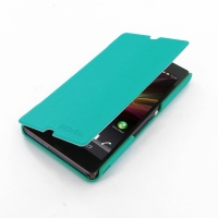 Casual Folio Cover Case for Sony Xperia Z L36H (Aqua)