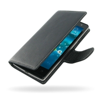 Acer Liquid E3 Leather Flip Carry Cover PDair Premium Hadmade Genuine Leather Protective Case Sleeve Wallet