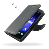 Acer Liquid E700 Leather Flip Carry Cover PDair Premium Hadmade Genuine Leather Protective Case Sleeve Wallet