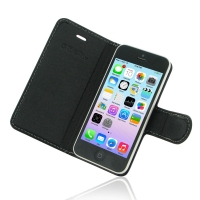 Deluxe Leather Book Case for Apple iPhone 5c