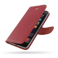 Deluxe Leather Book Case for Apple iPhone 6 Plus | iPhone 6s Plus (Red)