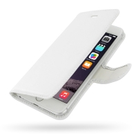 Deluxe Leather Book Case for Apple iPhone 6 Plus | iPhone 6s Plus (White)
