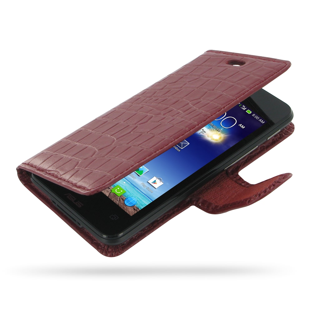10% OFF + FREE SHIPPING, Buy PDair Quality Handmade Protective Asus PadFone mini 4.3 Genuine Leather Flip Carry Cover (Red Croc) online. You also can go to the customizer to create your own stylish leather case if looking for additional colors, patterns a