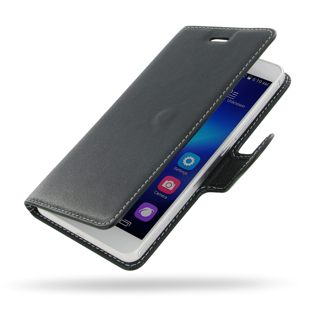 more photos f9952 b5a42 Deluxe Leather Book Case for Huawei Honor 6 Plus