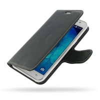 Deluxe Leather Book Case for Samsung Galaxy J5 SM-J500F