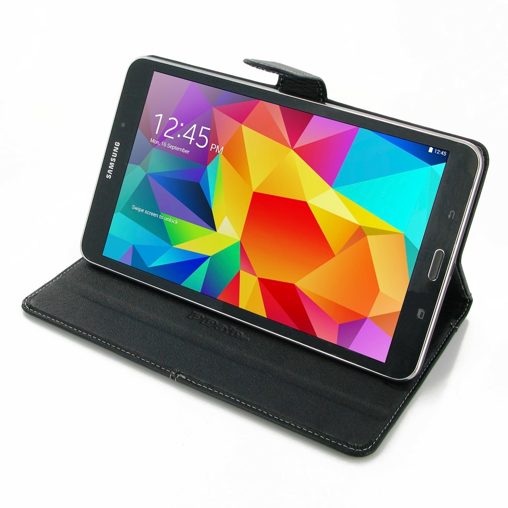 samsung galaxy tab 4 8 0 leather smart flip carry cover. Black Bedroom Furniture Sets. Home Design Ideas