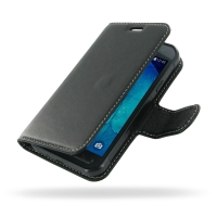 Deluxe Leather Book Case for Samsung Galaxy Xcover 3 SM-G388F