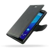 Sony Xperia C4 Leather Flip Carry Cover PDair Premium Hadmade Genuine Leather Protective Case Sleeve Wallet