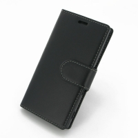 Sony Xperia M2 Leather Flip Carry Cover PDair Premium Hadmade Genuine Leather Protective Case Sleeve Wallet