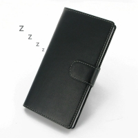 Sony Xperia T2 Ultra Leather Flip Carry Cover PDair Premium Hadmade Genuine Leather Protective Case Sleeve Wallet