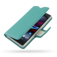 10% OFF + FREE SHIPPING, Buy PDair Top Quality Handmade Protective Sony Xperia Z1 Compact Leather Flip Carry Cover (Aqua) online. Pouch Sleeve Holster Wallet You also can go to the customizer to create your own stylish leather case if looking for addition