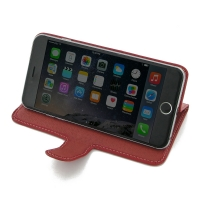 Deluxe Leather Book Stand Case for Apple iPhone 6 Plus | iPhone 6s Plus (Red)