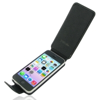 Deluxe Leather Flip Case for Apple iPhone 5c