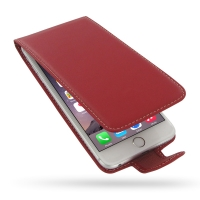 Deluxe Leather Flip Case for Apple iPhone 6 Plus | iPhone 6s Plus (Red)