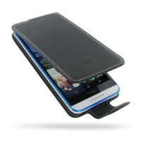 HTC Desire 820 mini Leather Flip Carry Case PDair Premium Hadmade Genuine Leather Protective Case Sleeve Wallet