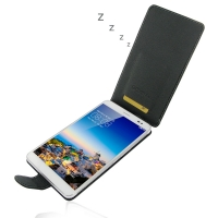 Huawei Mediapad X1 Leather Flip Carry Case PDair Premium Hadmade Genuine Leather Protective Case Sleeve Wallet