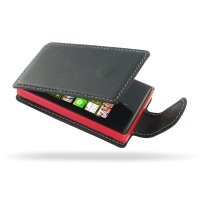 Nokia Asha 503 Leather Flip Carry Case PDair Premium Hadmade Genuine Leather Protective Case Sleeve Wallet