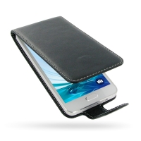 Deluxe Leather Flip Case for Samsung Galaxy A3 SM-A300F