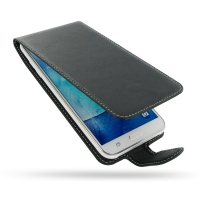 Deluxe Leather Flip Case for Samsung Galaxy J7 SM-J700F