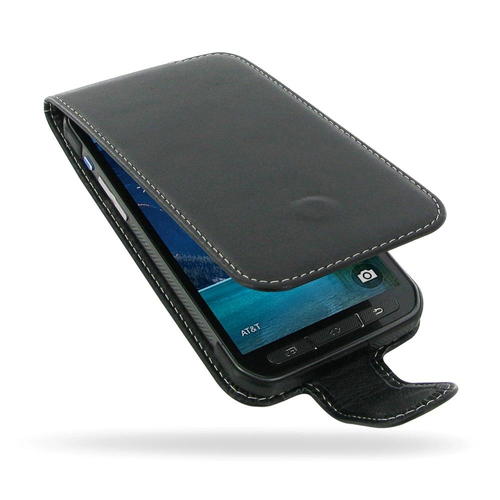 Samsung Galaxy S5 Active Leather Flip Carry Case :: PDair ...