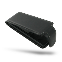 Sony Walkman NW-A10 Leather Flip Carry Case PDair Premium Hadmade Genuine Leather Protective Case Sleeve Wallet