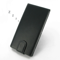 Sony Xperia T2 Ultra Leather Flip Carry Case PDair Premium Hadmade Genuine Leather Protective Case Sleeve Wallet