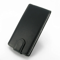 Sony Xperia Z2 Leather Flip Carry Case PDair Premium Hadmade Genuine Leather Protective Case Sleeve Wallet
