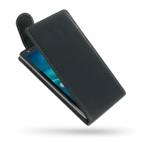 Acer Liquid E3 Leather Flip Top Carry Case PDair Premium Hadmade Genuine Leather Protective Case Sleeve Wallet