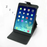 Deluxe Leather Flip Top Case for Apple iPad Mini