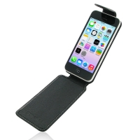 Deluxe Leather Flip Top Case for Apple iPhone 5c