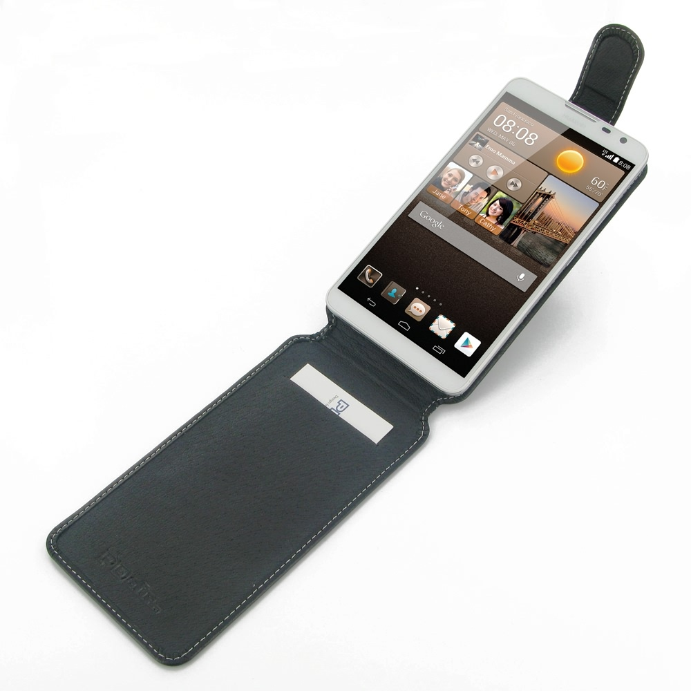 the latest d2189 b3a73 Deluxe Leather Flip Top Case for Huawei Ascend Mate 2 4G
