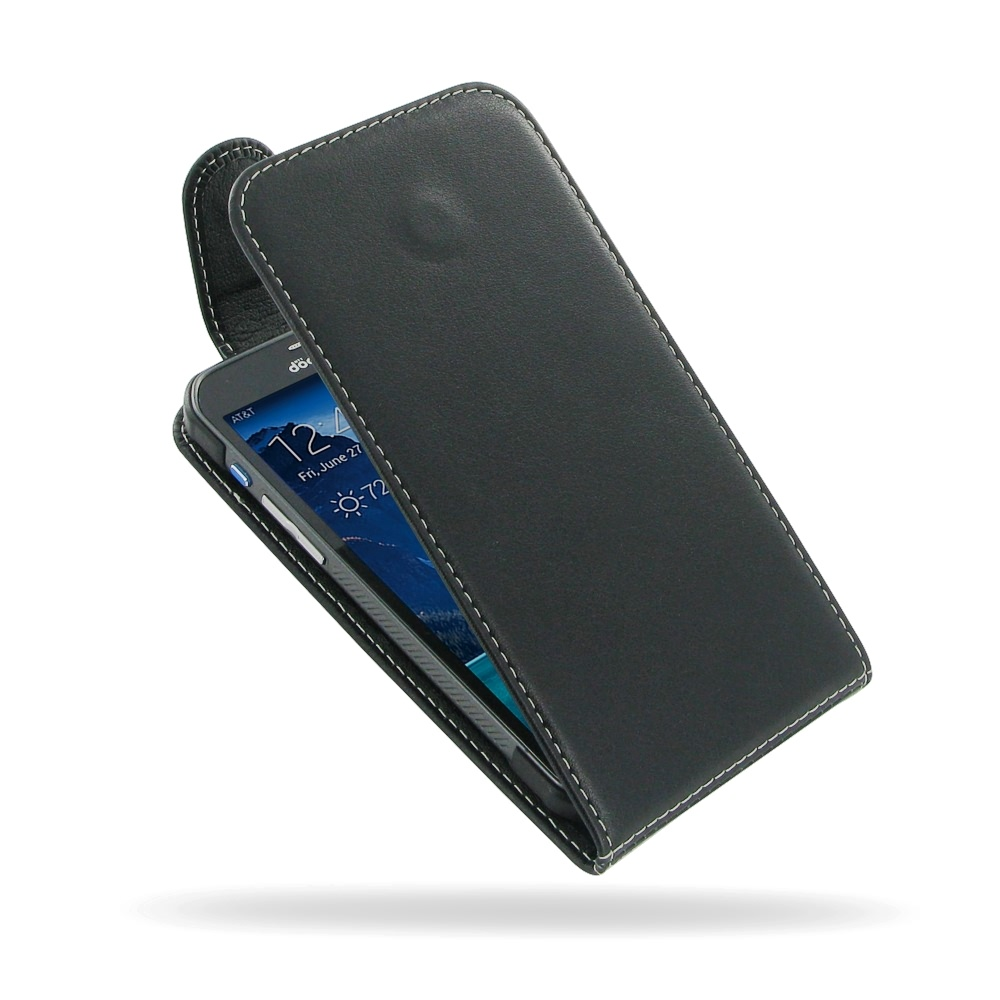 Samsung Galaxy S5 Active Leather Flip Top Carry Case ...