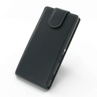 Sony Xperia M2 Leather Flip Top Carry Case PDair Premium Hadmade Genuine Leather Protective Case Sleeve Wallet