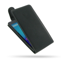 Sony Xperia M4 Aqua Leather Flip Top Carry Case PDair Premium Hadmade Genuine Leather Protective Case Sleeve Wallet