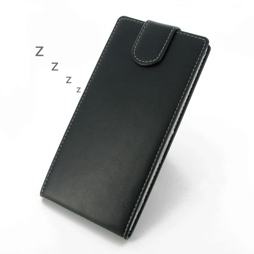 buy online 61318 ce214 Deluxe Leather Flip Top Case for Sony Xperia T2 Ultra Dual D5322