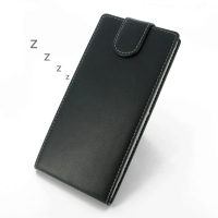Sony Xperia T2 Ultra Leather Flip Top Carry Case PDair Premium Hadmade Genuine Leather Protective Case Sleeve Wallet