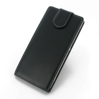 Sony Xperia Z2 Leather Flip Top Carry Case PDair Premium Hadmade Genuine Leather Protective Case Sleeve Wallet