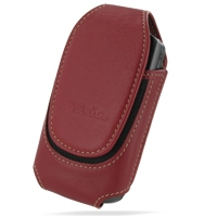 Acer DX900 Sleeve Leather Pouch Case (Large/Red) PDair Premium Hadmade Genuine Leather Protective Case Sleeve Wallet