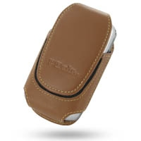 HP iPAQ rw6800 Series Sleeve Leather Pouch Case (Large/Brown) PDair Premium Hadmade Genuine Leather Protective Case Sleeve Wallet