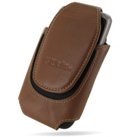Deluxe Leather Pouch Case for HTC Desire A8181/HTC Bravo (Extra Large/Brown)