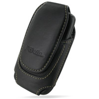 HTC Wildfire Sleeve Leather Pouch Case (Large/Black) PDair Premium Hadmade Genuine Leather Protective Case Sleeve Wallet