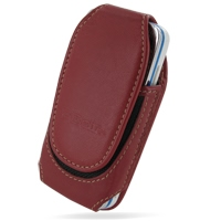 Nokia 5530 XpressMusic Sleeve Leather Pouch Case (Large/Red) PDair Premium Hadmade Genuine Leather Protective Case Sleeve Wallet